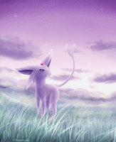 Espeon by Cinnamon-Quails