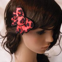 Leopard Bow Clip by hellohappycrafts