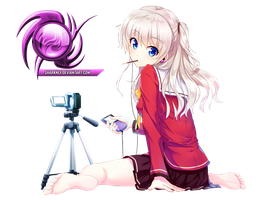 (Request) Charlotte - Tomori nao sitting render by sharknex