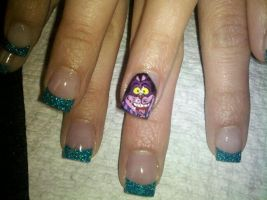 Cheshire Cat - Nail Art by DignifiedDoll