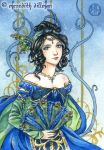 Sapphire ACEO by MeredithDillman