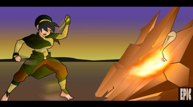 +Older Toph WIP+ by L-OfThe-Sharingan