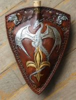 Froste Drake Leather Flask by Eclectixx
