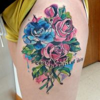 Watercolor Roses by amduhan