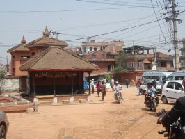 Streets of Bhaktapur 05 by Woolfred