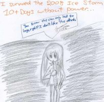 I survived the 2008 Ice-Storm. by Nyiana-sama