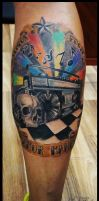 Ghettoblaster, music and skull by CAMOSartTATTOO