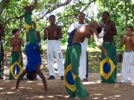 Capoeira at Praia do Forte by moneglc