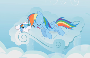 Double Rainbow Snooze by Salohcin-Silverwing