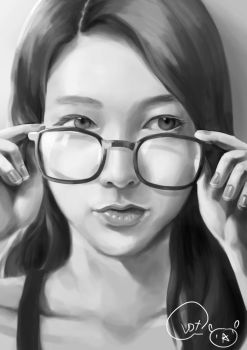 Bespectacled Girl by superMARIAbros