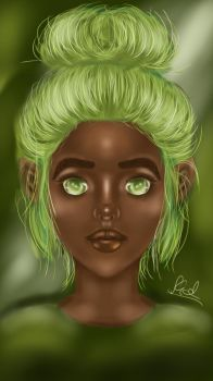'Chocolate Lime' ~ Digital Painting by Shade30