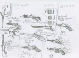 Shotguns, revolvers and Rifles by red-umbreon-of-light