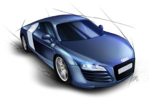 Audi R8 Concept by Lizkay