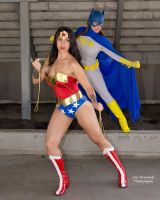 Wonder Woman Batgirl Team Up by ComicChic19