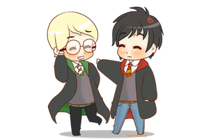 Chibi Drarry - Not funny! by Cremebunny