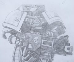 Space Marine - Heavy Bolter by AnderTRON