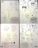 Sketchbook Pages Sale [SOLD] by Aka-Shiro
