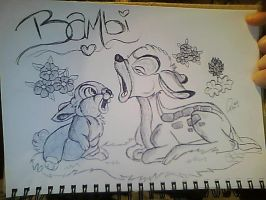 Bambi drawing by RosieHPhotographer