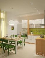 Scandinavian Kitchen - 1 by CheShindra