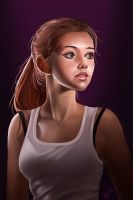 Dramatic light, portrait practice. by victter-le-fou