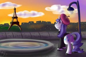 Twilight over the city of lights by RuberPhoenix