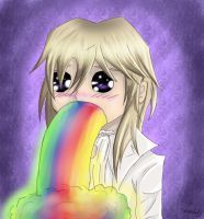 Viscount Druitt Puking Rainbow by lunalunaris
