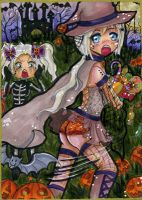 ACEO 8: Halloween for Forunth by Solceress
