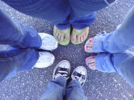 Me n Friends Shoes by xX-emo-muffin-Xx