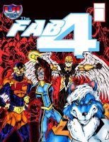 Fab Four Cover Issue #7 text free by Captain86
