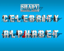 Celebrity Alphabet Psd Pack by shady06