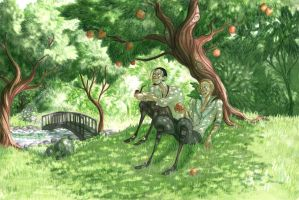 Dear Redingote-Under the trees by JustCallMeLum