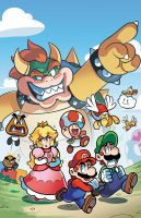 New Super Mario Adventures Cover (commission) by herms85