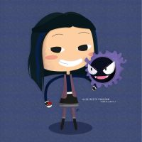 Glee!Pokemon - Tina and Gastly by katessence