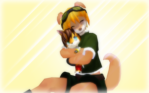 MMD - Fluffy Hug by MeoRoo