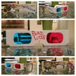 Doctor Who 3D Glasses by DouggieDoo