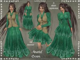 Anariel Gown Only by Elvina-Ewing