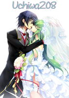 Lelouch and CC - Render by Uchiwa208