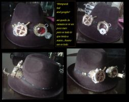 Steampunk Hat and Googles by Blaze-X-1