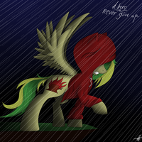 A hero never give up... by CharlotteLaNoire