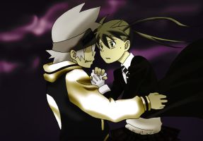 Soul and Maka: I never let you by Feiuccia