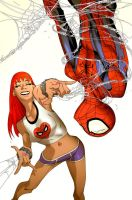 MJ and Spidey by evnaccd