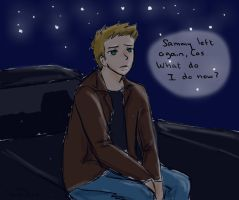 Dean looking at the stars by lemonpie-art