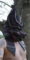 Leather Crimson Anubis Mask by Epic-Leather