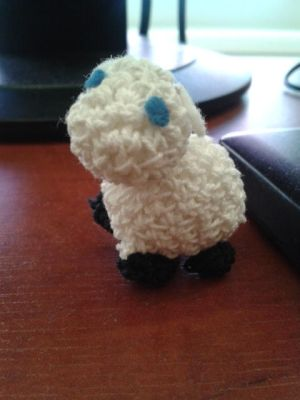 crochet sheep by Kropcia