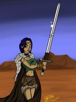 Hanna the Barbarian by thehaloequation