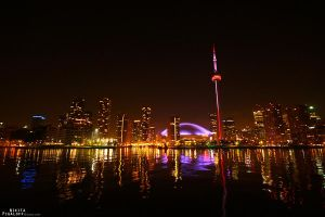 Night Toronto Skyline by nix0rs