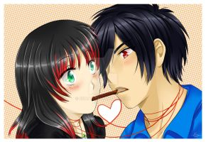 .pocky love. by Eeriah