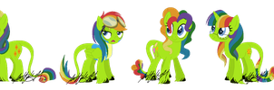 Iro As The Mane 6 by m00nstonee