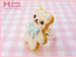 Cookie Bear Ring by Dolly House by SweetDollyHouse