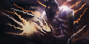 Arthas Burning by Ihammerli